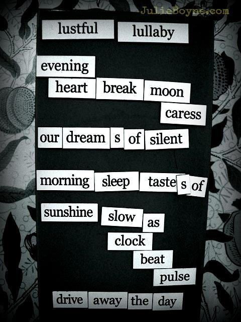 magnetic poem