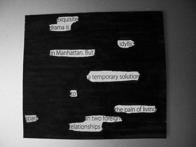 blackout poem exquisite drama