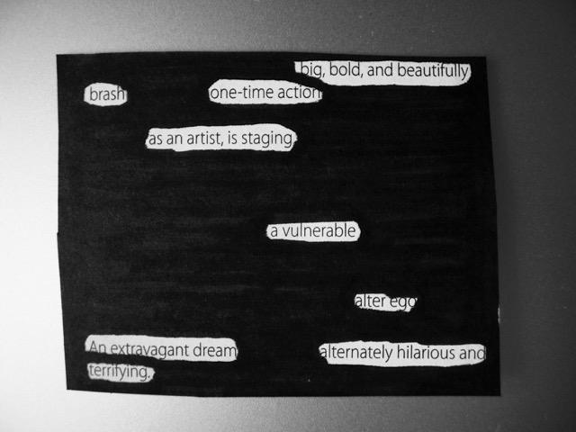 blackout poem art