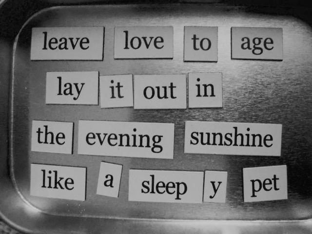 leave love poem
