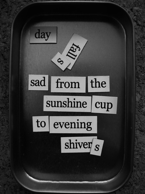 magnetic poem weather report