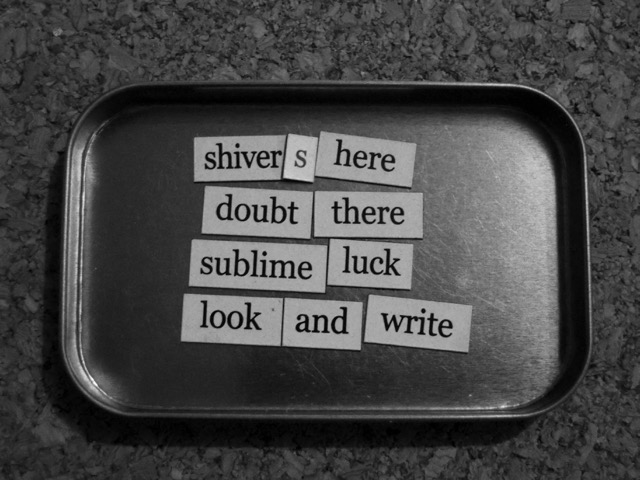 magnetic poem sublime luck