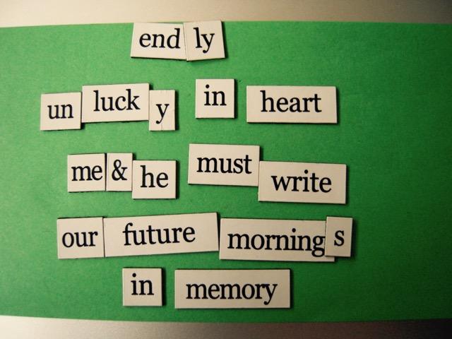 magnetic poem endly